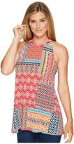 Roper 0978 Floral Aztec Patch Print Tank Top