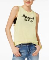 Freeze 24-7 Juniors' Sequined Mermaid Graphic Tank Top