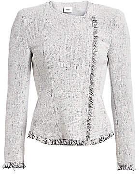 Akris Punto Women's Fringed Tweed Jacket