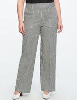 ELOQUII Plus Size Striped Wide Leg Trouser