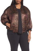 Lafayette 148 New York Plus Size Women's Vander Bomber Jacket
