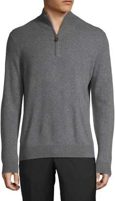 Saks Fifth Avenue Half-Zip Cashmere Sweater
