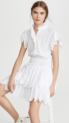 La Vie Rebecca Taylor Sleeveless Embroidered Smock Dress