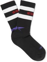 Vetements + Reebok Ribbed Striped Cotton-Blend Socks