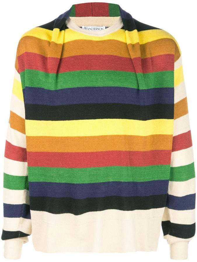 J.W.Anderson colour-block striped sweater