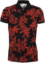 Saint Laurent Hawaiian Hibiscus Print Polo Shirt