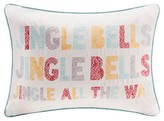 Nobrand No Brand Holiday Velvet Jingle Bells Pillow