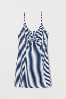 H&M Tie-detail Dress - White