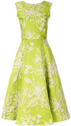 Bambah Sleeveless Floral Print Midi Dress