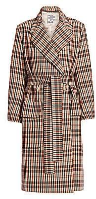 Baum und Pferdgarten Women's Deidra Checker Wrap Trench Coat