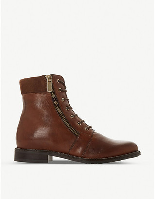 Dune Quad lace-up leather ankle boots