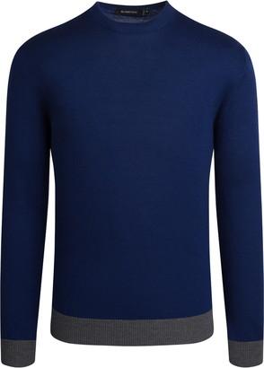 Bugatchi Mock Neck Merino Wool Sweater