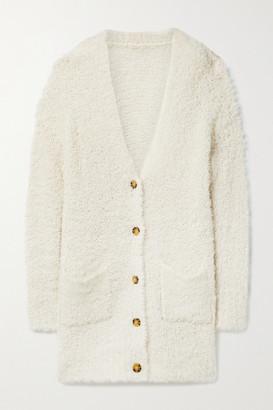 R 13 Teddy Bear Oversized Wool-blend Boucle Cardigan - Ivory