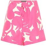 Marni Linen, cotton and silk shorts