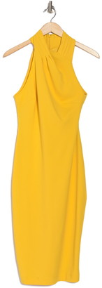 Rachel Roy Wrap Neck Sheath Dress