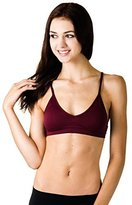 C&C CC Junior's Seamless Padded Bralette with Adjustable Straps (One Size, Burgundy)