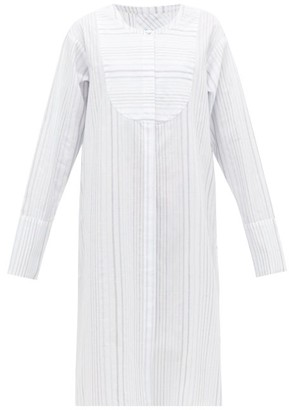 Loup Charmant Lekki Striped Cotton-blend Tunic - Blue Stripe