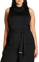 City Chic Plus Size Women's Sexy High Neck Top
