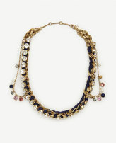 Ann Taylor Jeweled Rope Chain Necklace
