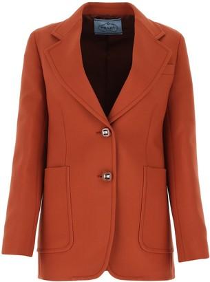 Prada Single-Breasted Tailored Blazer