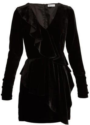 Raquel Diniz Anna Velvet Dress - Womens - Black