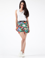 Jaded London Garden Floral Mini Skirt