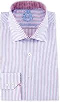 English Laundry Striped Long-Sleeve Dress Shirt, Pink/Blue