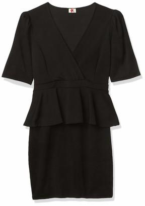 Forever 21 Women's Plus Size Surplice Peplum Mini Dress
