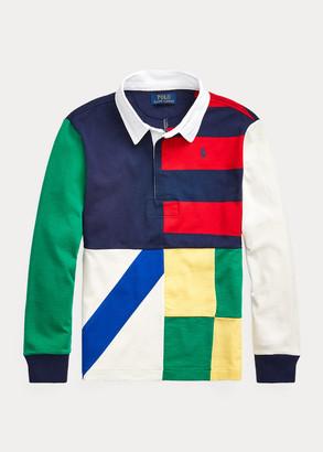 Ralph Lauren Patchwork Cotton Jersey Rugby Shirt