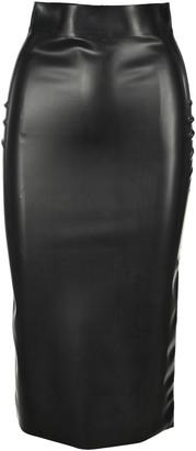 Saint Laurent Latex Style Pencil Skirt