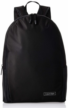 Calvin Klein Men's Revealed Round Backpack Shoulder Bag Black (Black) 0.1x0.1x0.1 cm (W x H x L)