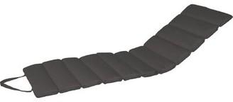 Red Barrel Studioâ® Channeled Indoor/Outdoor Sunbrella Chaise Lounge Cushion Red Barrel StudioA Fabric: Carbon