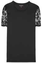 Burberry Cotton lace-embellished T-shirt