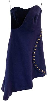 Alexander McQueen Blue Wool Dresses