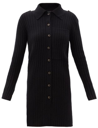 Lisa Yang - Lydia Point-collar Ribbed-cashmere Cardigan - Black