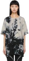 Off-White Off White Beige Tie-Dye Modern T-Shirt