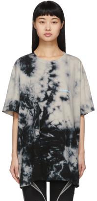 Off-White Beige Tie-Dye Modern T-Shirt