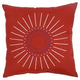 """Threshold Firework Embroidered Outdoor Pillow 18"""" - Red"""