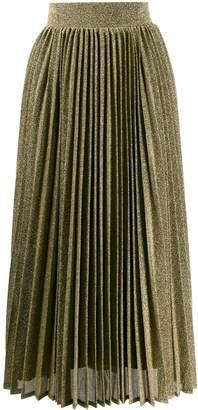 Amuse pleated mid-length skirt