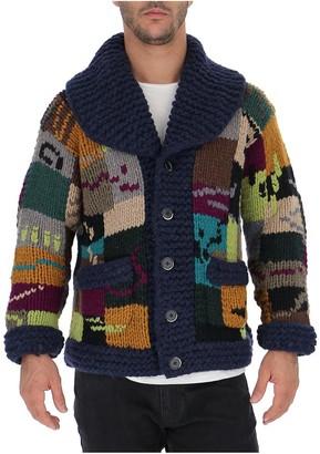 Barena Patchwork Chunky Knit Cardigan