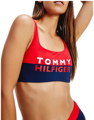 Tommy Hilfiger Colour-Blocked Bralette Bikini Top