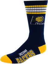 For Bare Feet Indiana Pacers 4 Stripe Deuce Crew 504 Sock