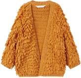MANGO Girls Metallic Knitted Cardigan