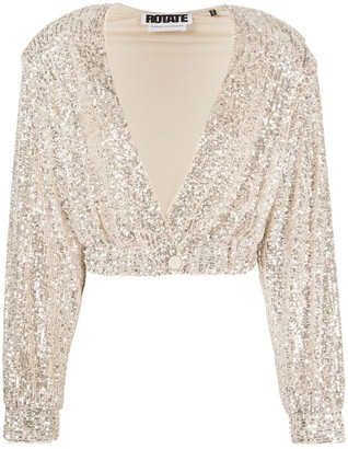 Rotate by Birger Christensen Sequinned Cardi-Top