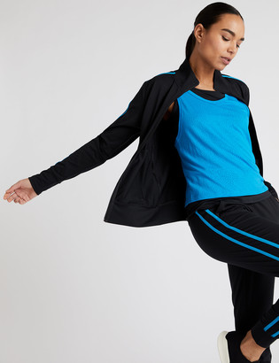 Marks and Spencer Side Stripe Zip Up Long Sleeve Track Top