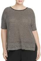Eileen Fisher Plus Mixed Knit Stripe Sweater