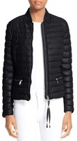 Moncler Women's Buglosse Quilted Leather Down Jacket