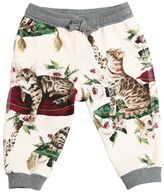 Dolce & Gabbana Cat Printed Cotton Sweatpants