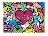 "McGaw Graphics Heart Kids by Romero Britto, Art Print Poster 11"" x 14"""