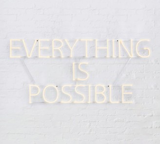 Pottery Barn Everything Is Possible Light Up Sign